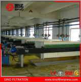 Prensa de filtro auto profesional del compartimiento del desplazamiento para el tratamiento de aguas residuales