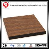 Hoja laminada decorativa del Formica de madera del grano