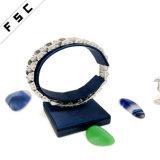 Bracelet en acier inoxydable de qualité supérieure en cristal de fleur de mode pour femmes