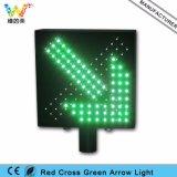 Alloggiamento d'acciaio impermeabile indicatore luminoso della croce rossa della freccia di verde di senso di 5 in punto