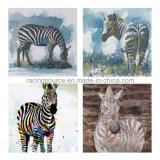 추상적인 동물성 인쇄 화포 Handmade 기름 화포 색칠