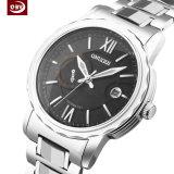 Grande montre de mode imperméable à l'eau de courroie d'acier inoxydable de cadran