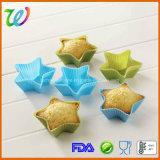 Moulage de gâteau de silicones de forme d'étoile
