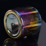Vidrio de electrochapado del sostenedor de vela con colores brillantes