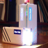 Côté coloré 13000mAh de pouvoir du chargeur DEL de téléphone mobile de modèle d'ondulation