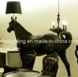 2017modern стоя черный светильник пола лошади для проекта комнаты приема гостиницы