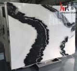 建築材料のための自然な石造りの特別な中国のパンダの白い大理石の平板
