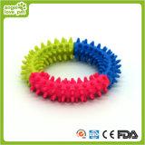 O animal de estimação farpado do anel da mastigação do cão brinca o produto do animal de estimação