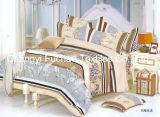 Conjunto de Bedspread Patchwork Bedding del modelo de rey Fitted polivinílico impreso