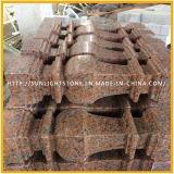 Fiammeggiato/ha lucidato le mattonelle rosse della pietra del granito dell'acero G562 per la pavimentazione esterna