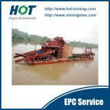 ディーゼル機関100t/Hのバケツのタイプ金の浚渫船