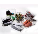 Kundenspezifische freie Acrylkasten-Schuh-Einkommen-Plexiglas-Einkommen