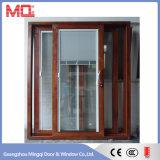 De alta calidad de la rotura térmica de aluminio ventana de la puerta con las persianas