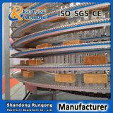 冷却の食糧のための適用範囲が広い棒の金属の回転カーブのコンベヤーベルト