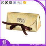 Boîte à sucrerie de chocolat de mariage de modèle de papier de coupure de laser