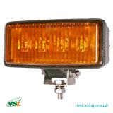 12W, 24W de LEIDENE Lichte Lampen van het Werk, van het Aangeboden Licht van de Weg, 1075lm /1650lm Witte & Gele Lens de Van uitstekende kwaliteit van PC, 3W /5W CREE LEIDENE LEDs Lichten (nsl-1204j-12W)