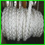 Certificat 104mm d'ABS/BV/Lr/CCS/Kr/Nk faisceau de 8 souillures, corde tressée tressée d'amarrage de Nylon/PE/PP/UHMWPE