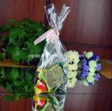 キャンデー、ギフト、食糧、自己接着のパン袋のための習慣BOPPの平底の正方形の透過袋