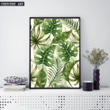 Palmblatt-dekorativer Kunst-Druck auf Segeltuch