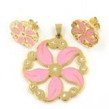 Fashiondesignの水晶イヤリングの女性のための吊り下げ式のネックレスの宝石類セット