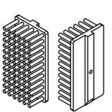 Подгонянный алюминиевый тип Heatsink Pin Pin теплоотвода