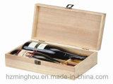 Коробка деревянного одиночного подарка красного вина бутылки упаковывая