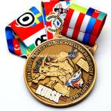 주문을 받아서 만들어진 아연 합금 레슬링 우승 스포츠 메달