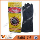 黒いオイルの抵抗力がある産業自然な乳液作業手袋