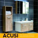 簡単な現代様式の純木の浴室の虚栄心の浴室用キャビネットの浴室の家具(ACS1-W02)