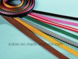 Auto Copper Foil Heat Shrinkable Tubo de PVC Webbing Elastic Ribbon Máquina de corte a frio quente