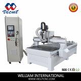 Ranurador de trabajo de madera del CNC de la máquina del CNC de la máquina del cambio auto de la herramienta