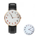 Relógio novo das cintas de couro de Montre do projeto dos relógios dos números Yxl-500 árabes