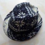 100% algodón / lino / poliéster Hat, Fedora Estilo de la manera con lentejuelas o Patch Decoración para niños