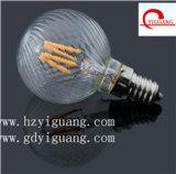 2017 ampoule Shadowless chaude de globe du filament DEL du produit G95 G80 G125 avec le premier dessus d'or argenté