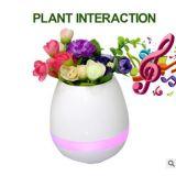 Crisol de flor elegante de alta tecnología de la música del tacto con el altavoz de Bluetooth y la luz del LED