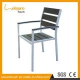 Patio al aire libre Muebles metálicos Cafe Bistro Polywood aluminio Silla de jardín en venta