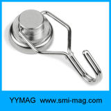 Strong Holding Force Neodymium Nickel Coating Ganchos magnéticos