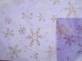 Tela del Organza del copo de nieve para la decoración