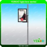거리 LED 램프 깃대 옥외 Lightbox Advertis 게시판