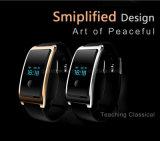 Relógios espertos de couro da liga para o Android