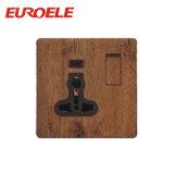 Placa de cor de madeira Painel em branco do botão preto
