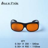 Óculos de proteção Gty 200-532nm&900-1700nm de vidros de segurança do laser/segurança para as máquinas da remoção do tatuagem do ND YAG (532 &1064 nanômetro)