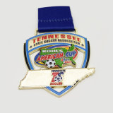 3D RuningのトルコShapealsが付いている記念品によってカスタマイズされる金属のスポーツメダル