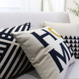 Крышка подушки недорогого хлопка Linen декоративная для украшать кровати