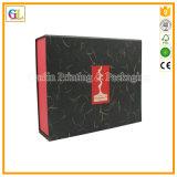 Черная складная коробка подарка магнита