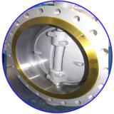 압축 공기를 넣은 플랜지가 붙은 금속 시트 세겹 오프셋 나비 벨브