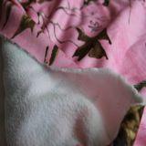 プリントが付いているDTY Sherpaの羊毛ファブリック