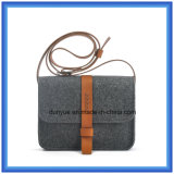 Il disegno semplice ha personalizzato il sacchetto casuale del messaggero ritenuto lane, sacchetto di spalla di acquisto del regalo di promozione con la cinghia di cuoio registrabile
