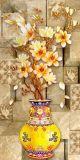 Tuile de mur de Blackground de fleur de tulipe de jet d'encre du matériau de construction 3D (VPA6A211)