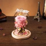 Flor natural hecha a mano para el regalo de cumpleaños del día de tarjeta del día de San Valentín